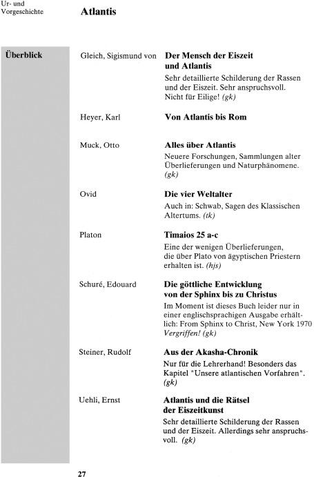 """(ehemalige) Literaturliste zum """"Geschichtsunterricht"""" an FWSen"""