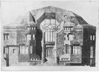 Fritz Kaldenbach: Große Villa (Entwurf), 1914